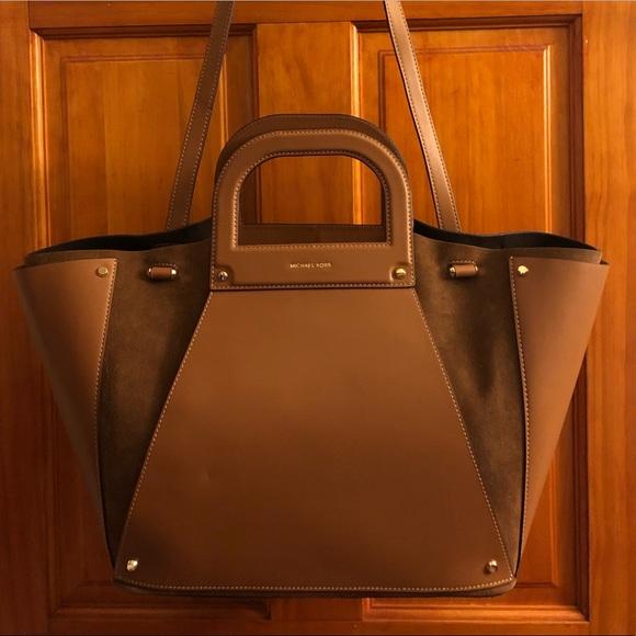 557fddad33ac MICHAEL Michael Kors Bags | Michael Kors Clara Xl Leather Suede Tote ...